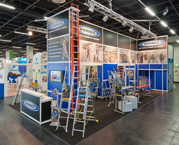 Exhibition Stand Build Up : Snake lane design in derby derbyshire werner ladder