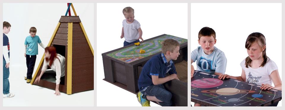 TDP plastic play equipment photoshoot