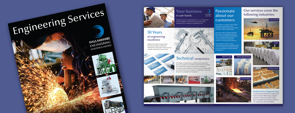 Hallamshire Engineering Brochure Design