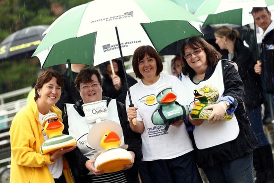 Ey Up Mi Duck Race Derby River Race